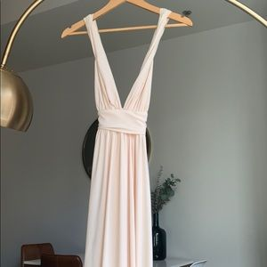 Light pink maxi dress